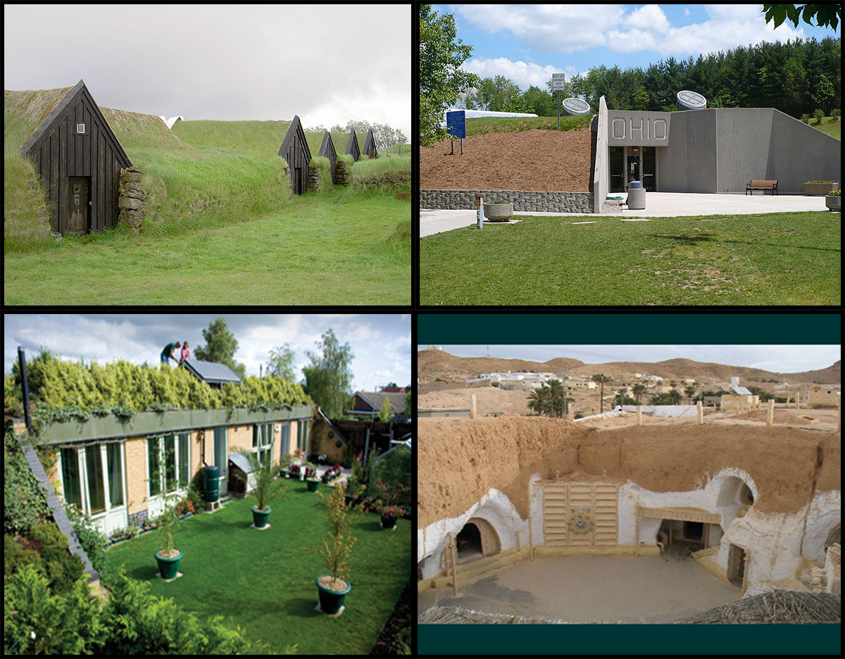 Earth sheltered homes complete blueprints for Berm home